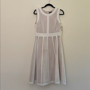 Tahari Ivory White Mavis Dress